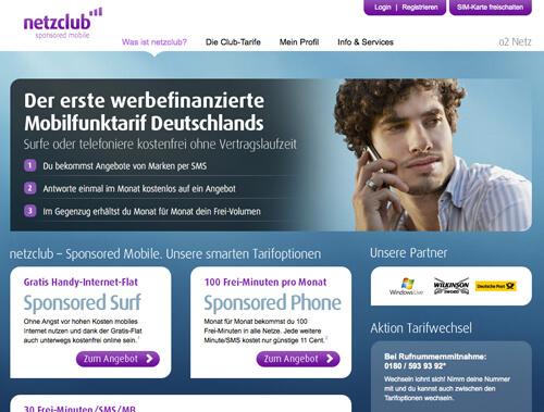 Netzclub CI und Webdesign
