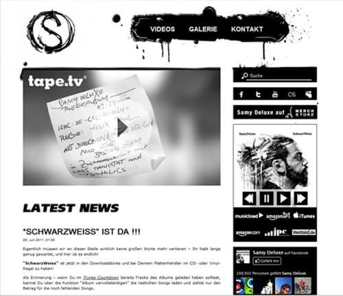 Samy Deluxe Website