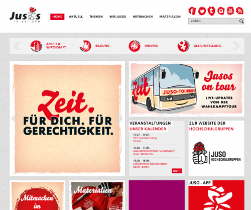 Juso Website Redesign und Relaunch