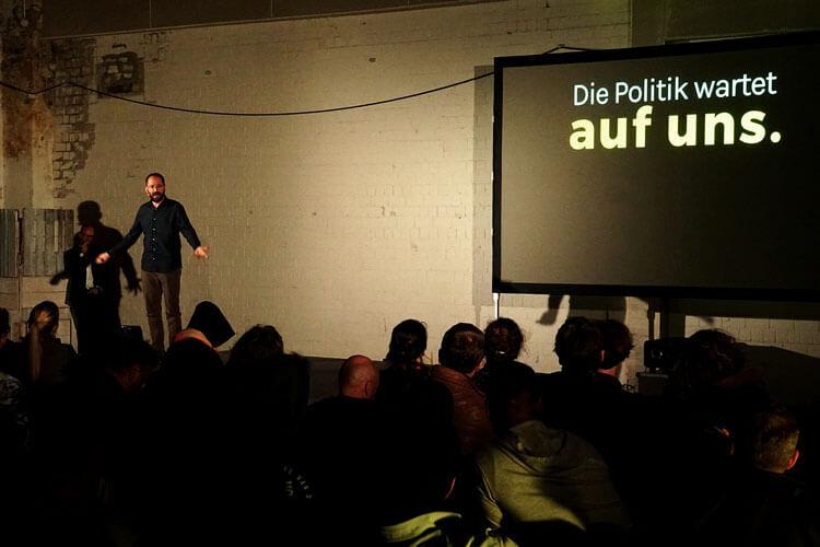 Eine Art TED Talk zum Klimawandel