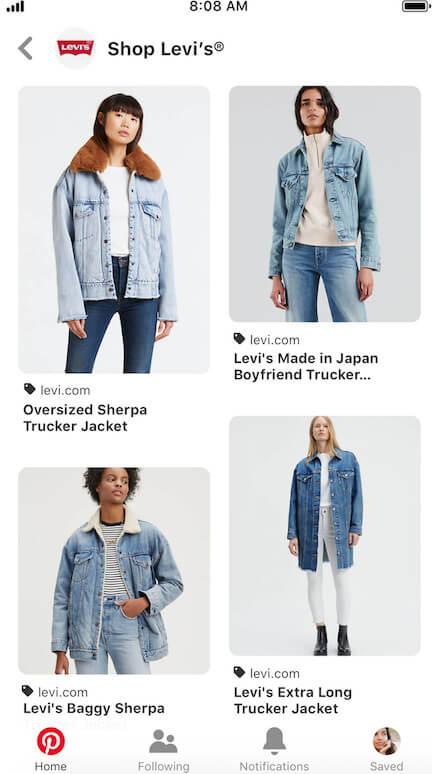 pinterest shopping ads catalogue