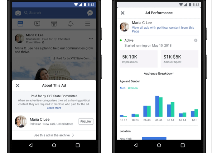 facebook werbebibliothek transparenz