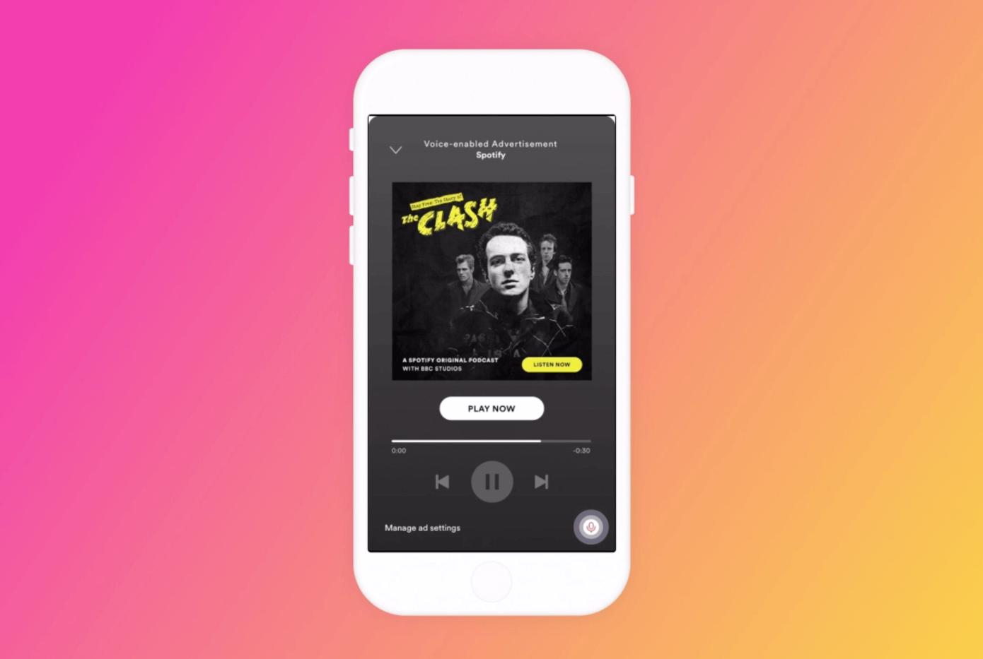 Spotify schaltet Ads mit Audio-Aktivierung