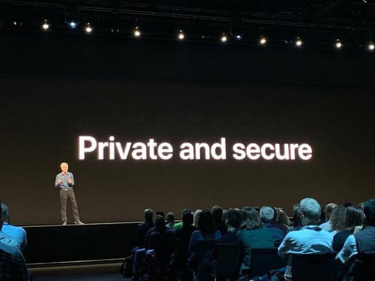 Bild von Apples Messe WWDC.