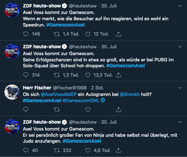 Screenshot von Twitter