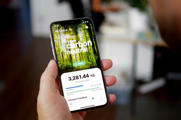 Die neue Klima App auf einem Smartphone Display