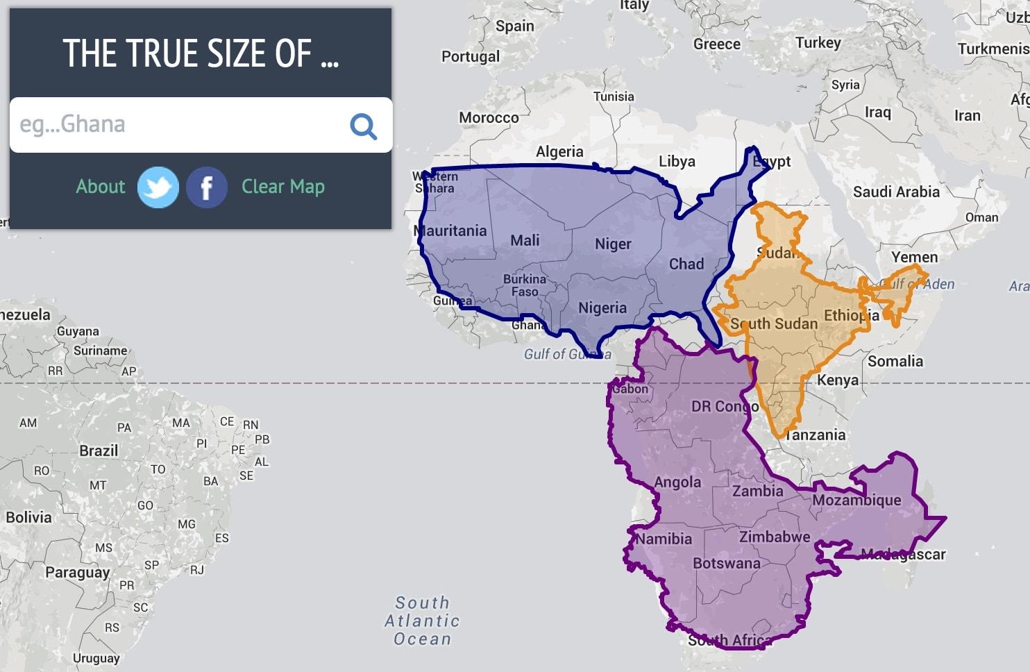The True Size: Texas ist so groß wie Mitteleuropa